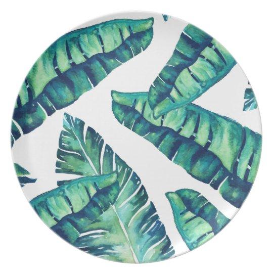 Tropical Glam melamine plate