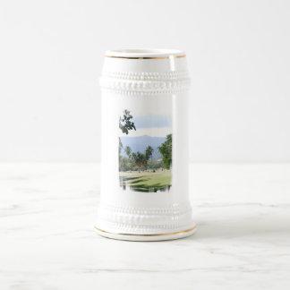 Tropical Golf Course Beer Stein Coffee Mug