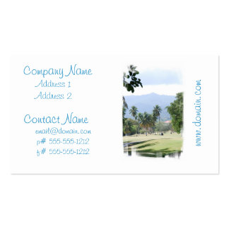Tropical Golf Course Business Cards
