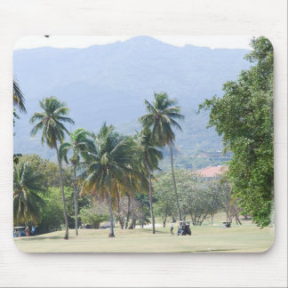 Tropical Golf Course Mouse Pad