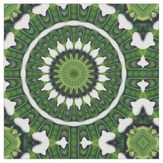 Tropical Green Mandala Fabric