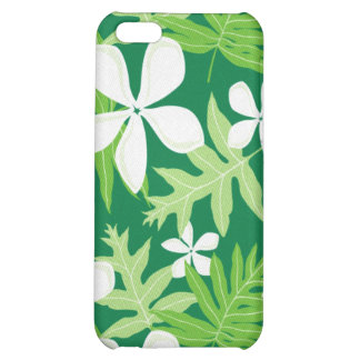 Tropical Green White iPhone 5C Covers