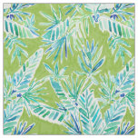 TROPICAL GREENERY Green Palm Banana Leaf Jungle Fabric