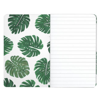Tropical Hand Painted Swiss Cheese Plant Leaves Journals