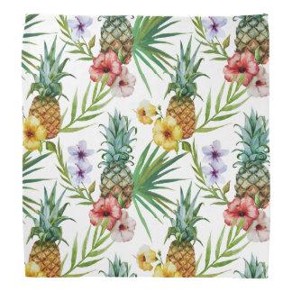Tropical hawaii theme watercolor pineapple pattern bandana