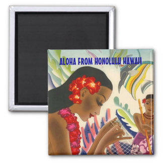 TROPICAL HAWAII TRAVEL SOUVENIR MAGNET ~ CUSTOMIZE