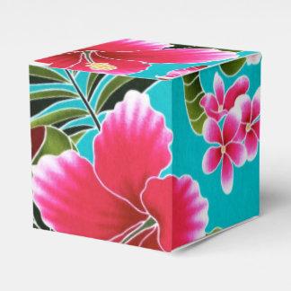 Tropical Hawaiian Fuchsia Flowers Favour Box