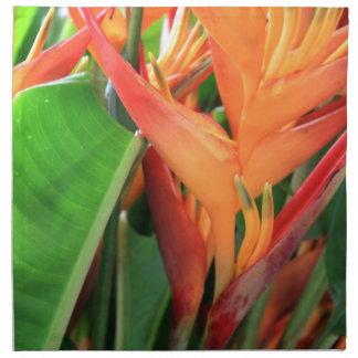 Tropical Hawaiian Heliconia Flowers Napkin