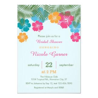 Tropical Hawaiian Hibiscus Bridal Shower Invitatio 13 Cm X 18 Cm Invitation Card