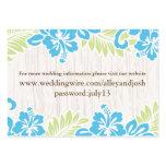 Tropical Hawaiian Info Card Turquoise