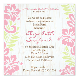 Tropical Hawaiian Invitation