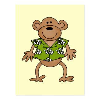 Tropical Hawaiian Monkey Tshirts and Gifts Postcard