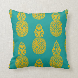 Tropical Hawaiian Pineapple Pattern Throw Pillow