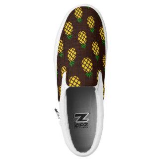 Tropical Hawaiian Pineapple Stencil Slip On Shoes