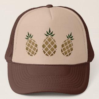 Tropical Hawaiian Pineapple Stencil Trucker Hat