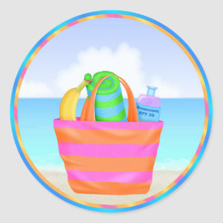 Tropical Hawiian Luau Cupcake Toppers Stickers