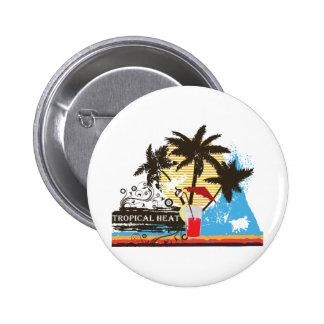 tropical heat design 6 cm round badge