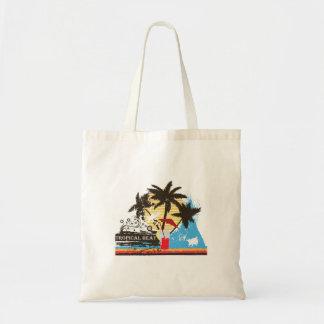 tropical heat design budget tote bag