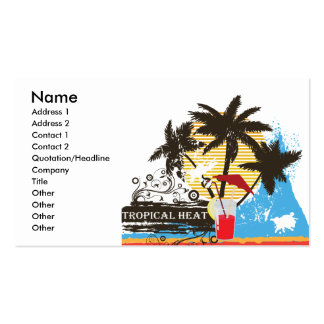 tropical heat design pack of standard business cards