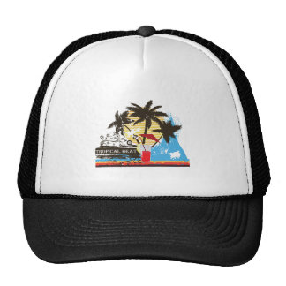 tropical heat design cap
