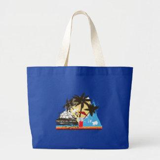 tropical heat design jumbo tote bag