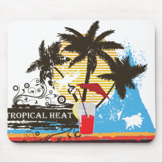 tropical heat design mouse pad