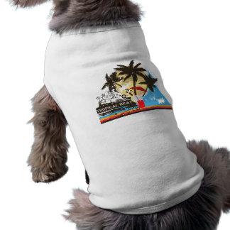 tropical heat design sleeveless dog shirt
