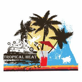 tropical heat design standing photo sculpture