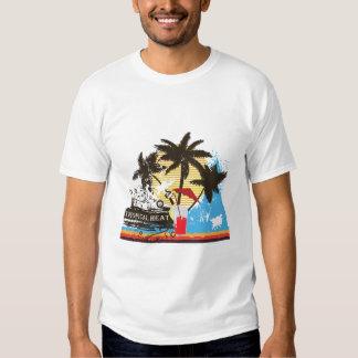 tropical heat design t-shirt