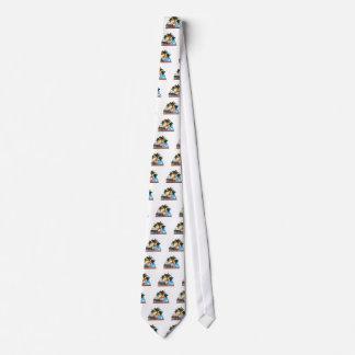 tropical heat design tie
