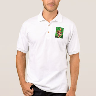 Tropical Heliconia & Dioon spinulosum Polo Shirt