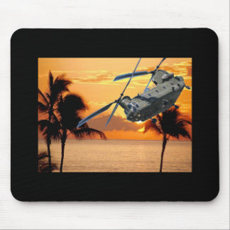 Tropical Helicopter Mouse Mat
