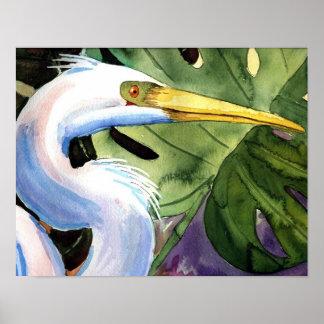 Tropical Heron Poster