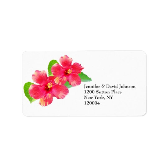 Tropical Hibiscus Address Label