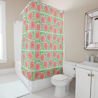 Tropical Hibiscus Art Shower Curtain