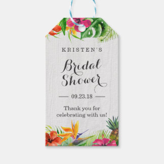 Tropical Hibiscus Floral Bridal Shower Thank You