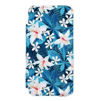 Tropical Hibiscus Floral Pattern 2 Incipio Watson™ iPhone 5 Wallet Case