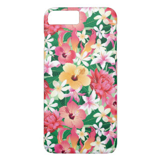 Tropical Hibiscus Floral Pattern 2 iPhone 8 Plus/7 Plus Case