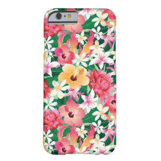 Tropical Hibiscus Floral Pattern Barely There iPhone 6 Case