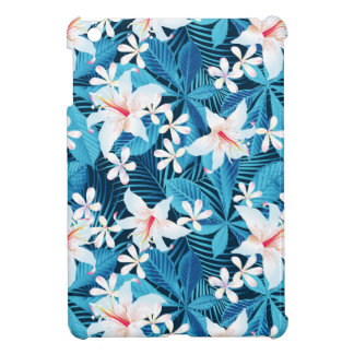 Tropical Hibiscus Floral Pattern Cover For The iPad Mini
