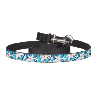 Tropical Hibiscus Floral Pattern Dog Lead