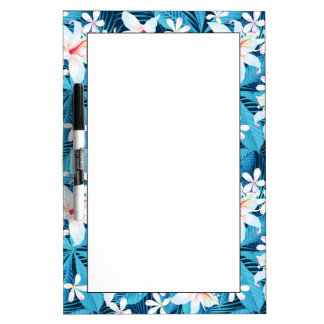 Tropical Hibiscus Floral Pattern Dry-Erase Boards