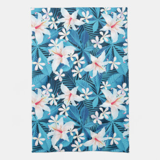 Tropical Hibiscus Floral Pattern Hand Towels