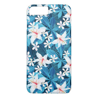 Tropical Hibiscus Floral Pattern iPhone 8 Plus/7 Plus Case