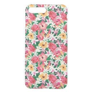 Tropical Hibiscus Floral Pattern iPhone 8 Plus/7 Plus Case