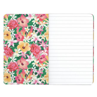 Tropical Hibiscus Floral Pattern Journals