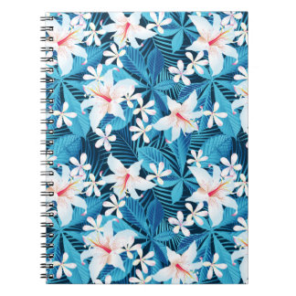 Tropical Hibiscus Floral Pattern Note Books