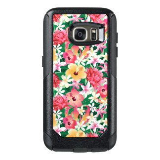 Tropical Hibiscus Floral Pattern OtterBox Samsung Galaxy S7 Case