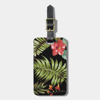 Tropical Hibiscus Flower Travel Luggage Tag
