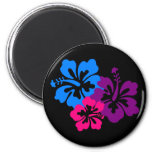 Tropical Hibiscus Flowers in Bright Colours Fridge Magnets